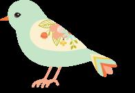 bird light blue